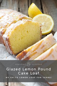 Glazed Lemon Pound Cake Loaf My go-to lemon loaf recipe for years! This delicious Glazed Lemon Pound Cake Loaf is always perfectly moist and lemony! Loaf Recipes, Pound Cake Recipes, Easy Cake Recipes, Sweet Recipes, Baking Recipes, Lemon Bundt Pound Cake Recipe, Moist Lemon Pound Cake, Best Lemon Cake Recipe, Homemade Pound Cake