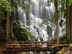Ramona Falls: A dazzling (and popular) waterfall along the Timberline Trail.