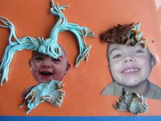 Quiet activities for toddlers - play dough hair