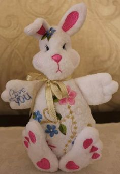 Designs By Louisa Meyer Originals Embroidery Applique, Machine Embroidery, Embroidery Designs, Quilted Gifts, Embroidery Supplies, Bunny Toys, Diy And Crafts, Quilts, Originals