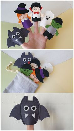 Sensory Book, Montessori Room, Delicate Wash, Busy Book, Finger Puppets, Felt Toys, Cotton Bag, Baby Halloween, Frankenstein