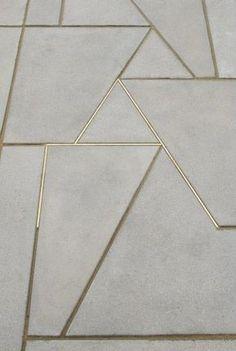 Concrete & Gold texture architecture floors