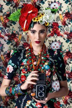 Inspiração linda <3!!!! #FridaKhalo