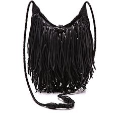 ONE by Fringe Cross Body Bag (€195) ❤ liked on Polyvore featuring bags, handbags, shoulder bags, bolsas, purses, accessories, black, crossbody, black handbags and cross body purse