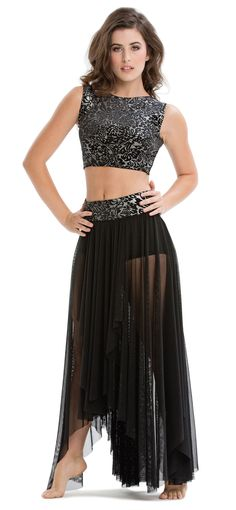 love the sparkle, love the style, skirt would be shorter.