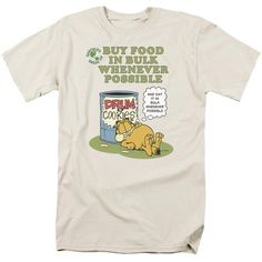 GARFIELD/BUY IN BULK - S/S ADULT 18/1 - CREAM - 3X BUY IN BULK | Cartoon T-Shirts | Mopixiestore.com