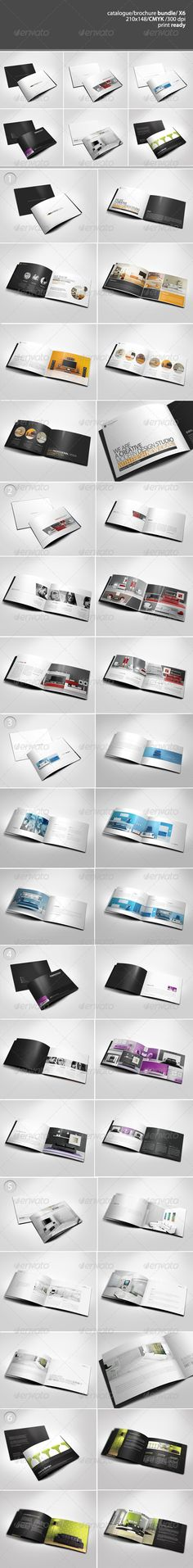 A5 Catalogue / Brochure Bundle  #GraphicRiver         This pack includes 6 professionally designed modern catalogue/brochure templates. Buying this bundle you save $24 and plenty of ti