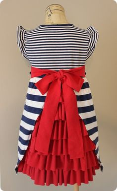 Americana Dress Tutorial (4th of July) - Being Australian is won't be an 'americana dress' maybe different colours?