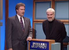 Saturday Night Live: Will Ferrell as Alex Trebek & Darrell Hammond as Sean Connery in Jeopardy! #SNL
