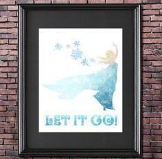 Let it Go Frozen 8x10 Poster - DIGITAL DOWNLOAD / Instant Download