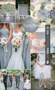 Wedding Colour Schemes 2017 – Top 10 Wedding Colors Ideas for Spring 2014. We love this stunning, sophisticated dusty blue scheme.