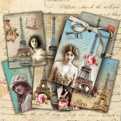 downloadable Paris themed ATC's
