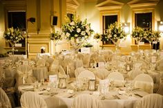 Savvy and stylish are two words that come to mind with this elegant wedding. A neutral colour palette transferred the focus to the personalities and emotions of the day. Sister Wedding, Our Wedding, Centerpieces, Table Decorations, Wedding Reception Venues, Table Arrangements, Great Restaurants, Wedding Images, Customs House