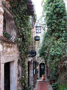 How cute do these little shops look. Eze, France