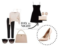 """""""Day to Night"""" by annnaedwards ❤ liked on Polyvore featuring Charles David, Ray-Ban, Louis Vuitton, Oasis, Acne Studios, Lipsy, Anabela Chan and Pieces"""
