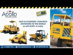 Do you know? How Self Loading Dumper Works? Watch out the video which explains works of  loading dumper including Apollo Carmix Equipments Private Limited has led to development of good dumper trucks like the Carmix dumper D6 model. The machine has a loading capacity of up to 1362 gallons and is run by powerful Perkins engine having a maximum power of 80 kw. It is equipped with checking and blocks valves for maximum safety of the operator.