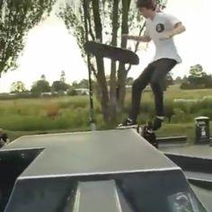 Skateboarder @EllisFrost demonstrates his wood-pushing voodoo...