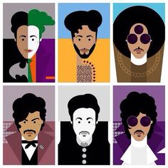 ❤ Illustrations by Redfoxbandit Prince looks over the years.