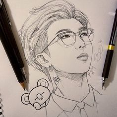 [orginial_title] – BTS {Awesome Leader Namjoon💜} this is probabaly my second fanart of… {Awesome Leader Namjoon💜} this is probabaly my second fanart of RM. Drawing Bts, Drawing Sketches, Kpop Drawings, Pencil Art Drawings, Fan Art, Bts Chibi, Kpop Fanart, Art Sketchbook, Bts Wallpaper