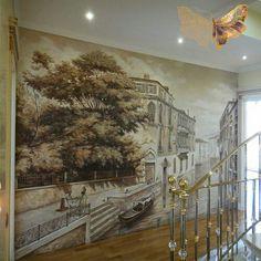 vintage wallpaper wall mural ~ 1960\u0027s home decor ~ photo taken at mymural painting, mural art, wall murals, art decor, 16th century, bellisima