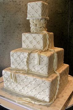 Quilted Chanel wedding cake
