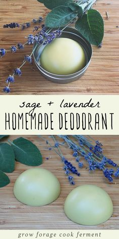 Homemade deodorant is easy to make and good for your health. This herbal deodorant recipe is made with lavender and sage, both herbs that have many beneficial properties. beauty lotion Homemade Deodorant Recipe with Lavender and Sage Lavender Recipes, Lavender Crafts, Homemade Deodorant, Diy Natural Deodorant, Homemade Shampoo, Natural Shampoo, Home Made Deodorant Recipes, Homemade Mascara, Vegan Deodorant