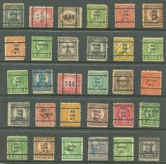 US Stamp Collection Of 30 Definities- mix 20¢, 3¢ old  # 569 - 30¢, Pre-Cancel