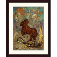"""Global Gallery 'Centaur and Dragon' by Odilon Redon Framed Painting Print Size: 38"""" H x 29.26"""" W x 1.5"""" D"""