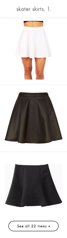 """skater skirts, 1."" by originalimanim ❤ liked on Polyvore featuring skirts, bottoms, dresses, saias, flared skirts, skater skirt, pink circle skirt, white knee length skirt, white skater skirt and mini skirts"