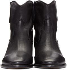 Isabel Marant - Black Leather Cluster Boots