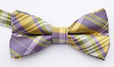 OCIA® Mens Plaid Microfiber Pre Tied Handmade Bow Tie - ND031