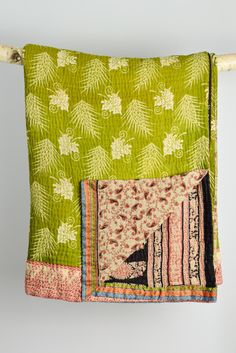 Kantha quilt large: 8 by Maya. This reversible sari quilt is so lovely it would be hard to choose a favourite side!