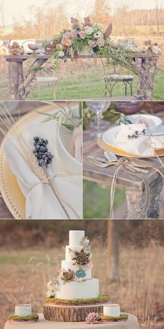 bohemian bridal theme country side elegant wedding rustic table setting sareh nouri gowns ... Reception dinner party tables place settings placesettings ... Rustic glamorous, vintage glamor, country elegance, shabby chic, whimsical, boho, best day ever