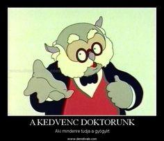 Egy kakukk, illetve inkább bagolytojás. Ő is doktor :)  A KEDVENC DOKTORUNK