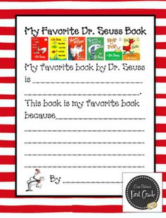 Read Across America is next week...and I love Dr. Suess. We are going to make a bar graph for our favorite books, too.