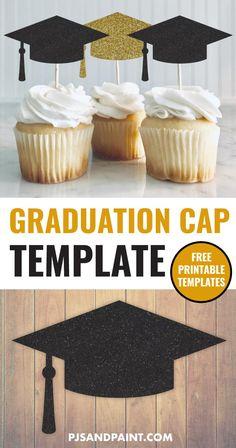 Graduation Party Desserts, Graduation Cake Toppers, Grad Party Decorations, Graduation Party Planning, Graduation Cupcakes, Graduation Party Decor, Graduation Templates, College Graduation, Graduation Ideas