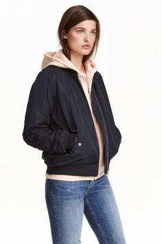 Bomber jacket - Dark blue - | H&M IE 1