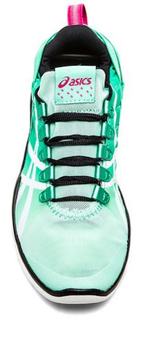 mint Asics running shoes