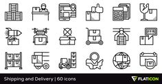 60 free vector icons of Shipping and Delivery designed by Eucalyp
