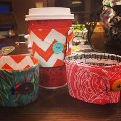 Sewing project! Coffee cup holders!