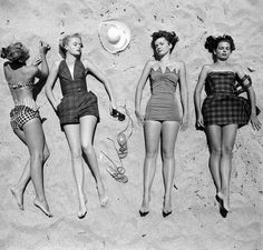 ladies, beach