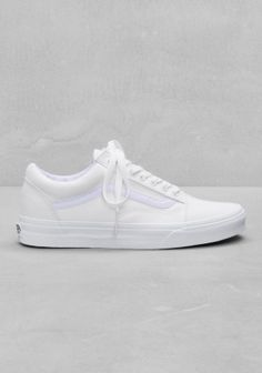 all white old skool vans low tops