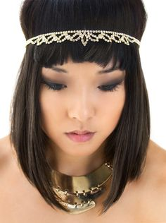 Gold Grecian Gatsby Crystal Headband, Egyptian Headpiece, Cleopatra Headpiece * Learn more by visiting the image link. (Amazon affiliate link)