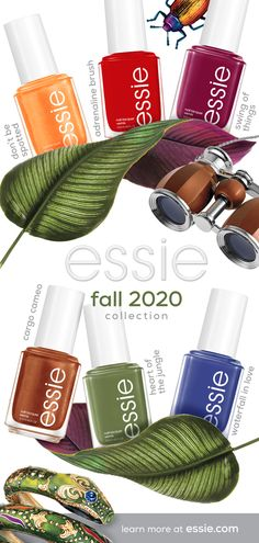 introducing the new limited edition essie fall 2020 collection - six warm, earthy shades inspired by a thrilling trek through the heart of the jungle. Love Nails, Pink Nails, How To Do Nails, Pretty Nails, Best Nail Polish, Essie Nail Polish, Essie Nail Colors, Nail Polish Colors, Hair Skin Nails