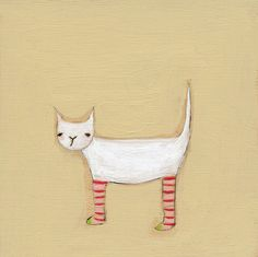 cat in socks - 8.5 x 11 print by Marisa and Creative Thursday. $42.00, via Etsy.