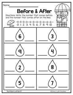 First Grade Math Worksheets, Printable Preschool Worksheets, Free Kindergarten Worksheets, Math Literacy, Preschool Math, Math Classroom, First Grade Reading Comprehension, Basic Math, History Education