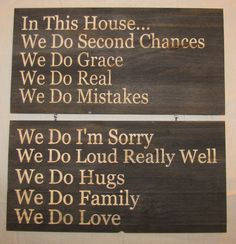 Rules for the home..