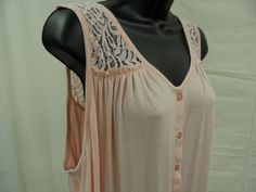 Plus Size 2X Top Soft STRETCH Shirt LACE BACK & SHOULDERS Ruffled Blouse    NWT #ExtraTouch #KnitTop