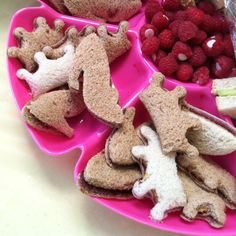 Make awesome PB&J shapes. | 47 Unexpected Things To Do With Cookie Cutters ~ use the Peppa & George cutters