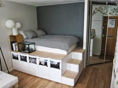 super into the platform bed